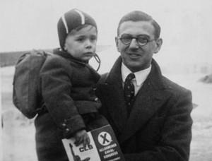 Nicholas Winton cu un copil