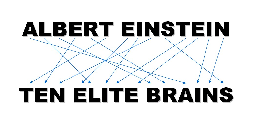 ALBERT EINSTEIN - TEN ELITE BRAINS