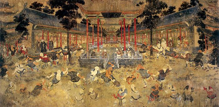Pictură murală la Templul Shaolin