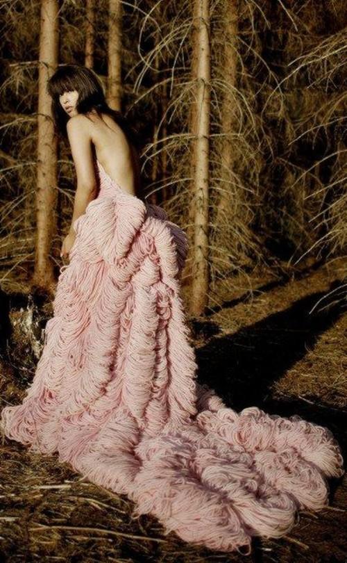 Rochie croşetată - spate