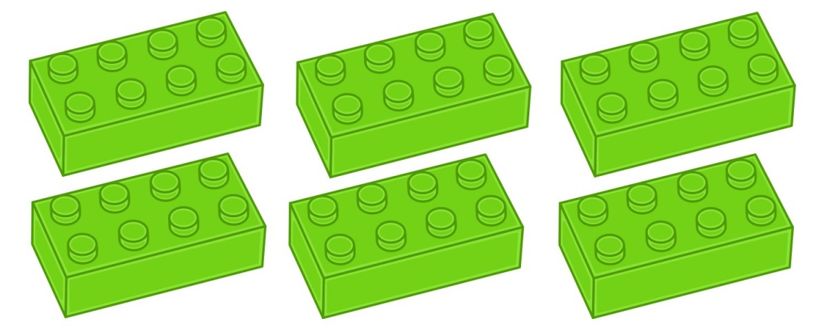 6 cărămizi Lego
