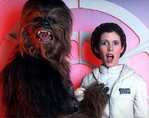 Chewbacca şi Leia