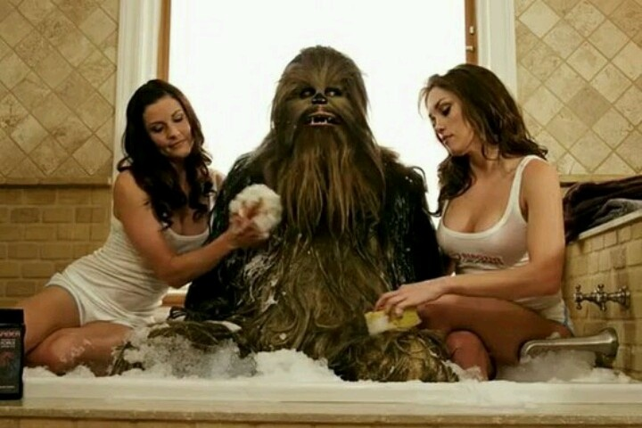 Chewbacca face baie
