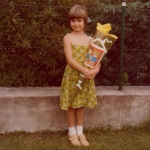 Heidi Klum în prima zi de şcoală