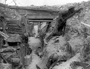 Tranşee britanică în 1916
