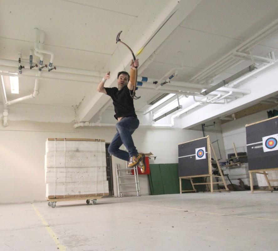 Lars Andersen la antrenament