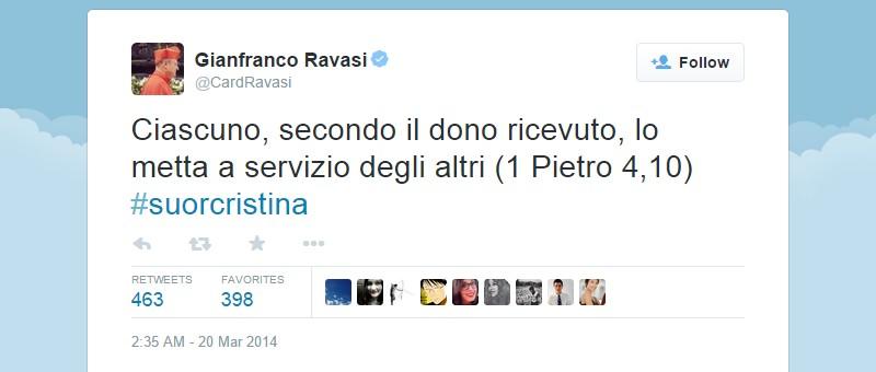 Gianfranco Ravasi pe Twitter