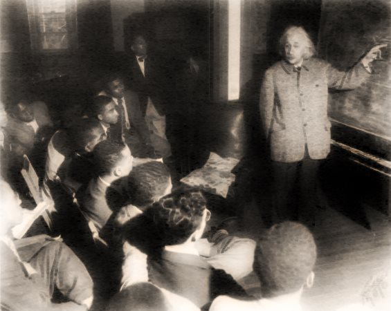 Albert Einstein cu studenţii Afro-Americani