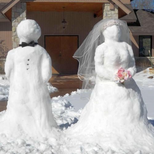 Nunta oamenilor de zăpadă