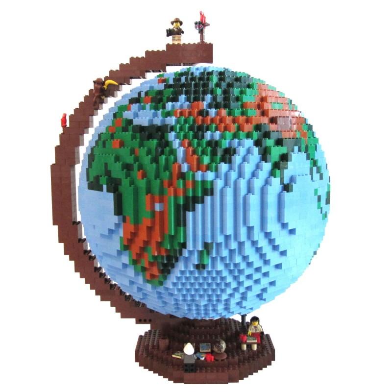 Glob pământesc din piese Lego